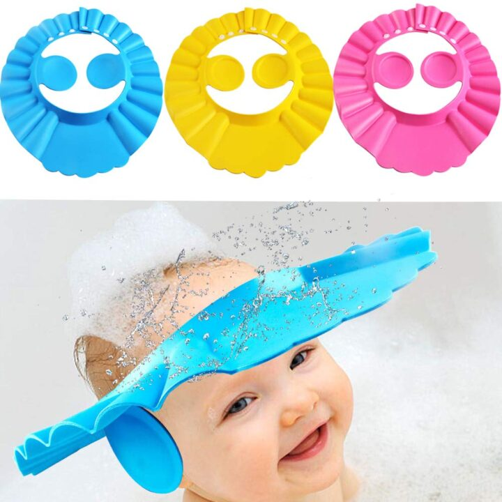 Adjustable Shower Cap for Babies with Ears