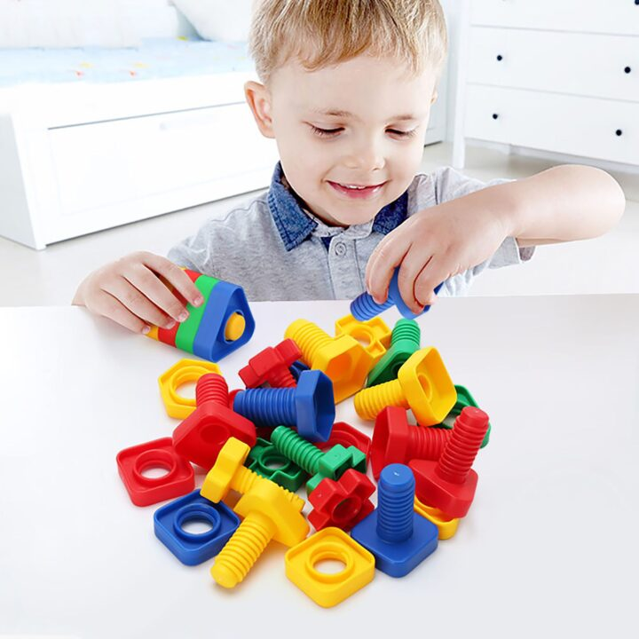 Giant Nuts and Bolts for Fine Motor Skills