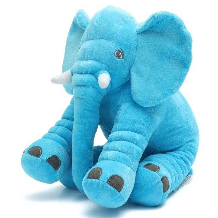 Large Elephant Plush Toy For Babies - Blue