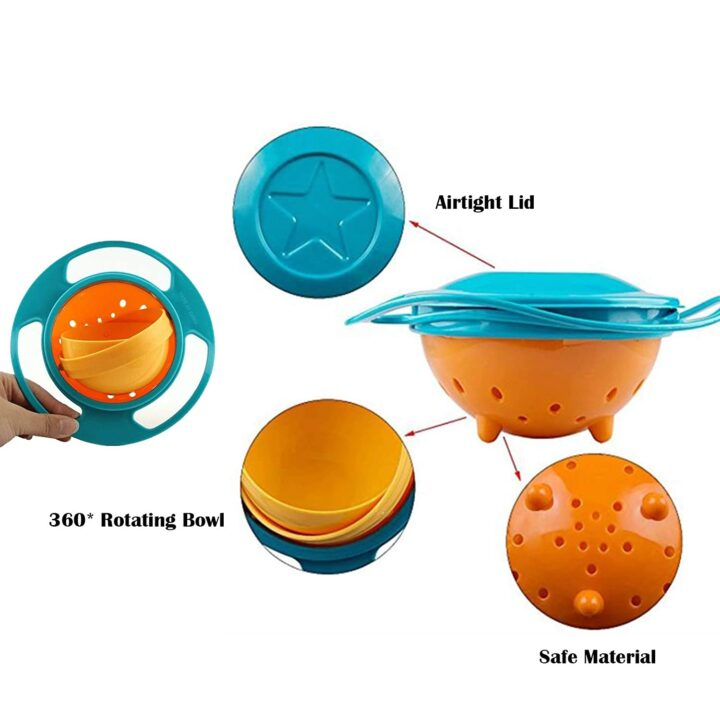 Spill Proof Gyro Food Bowl