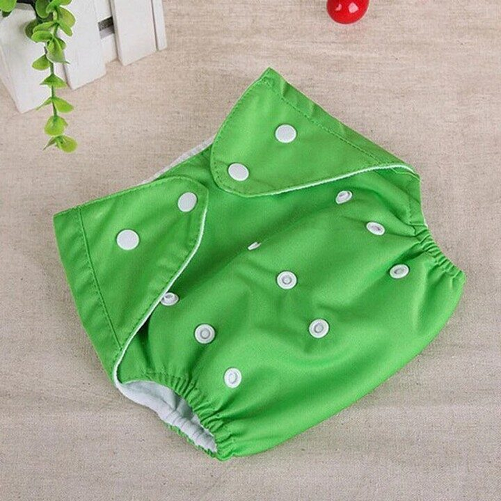 Washable Baby Training Diapers (Adjustable) - Green