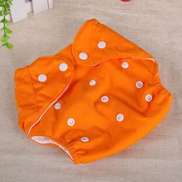 Washable Baby Training Diapers (Adjustable) - Orange