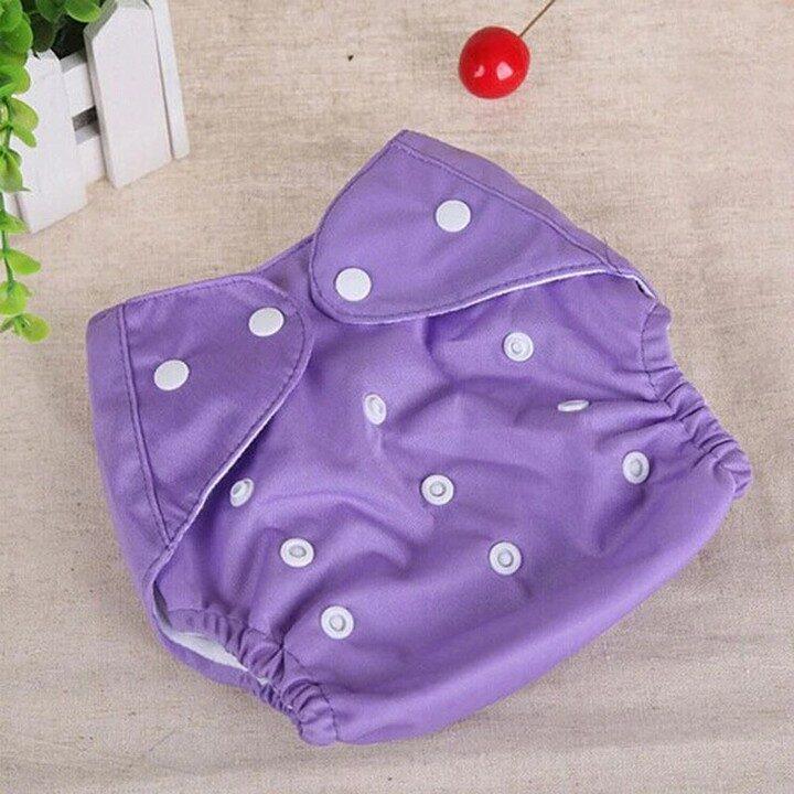 Washable Baby Training Diapers (Adjustable) - Purple