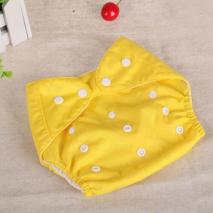 Washable Baby Training Diapers (Adjustable) - Yellow