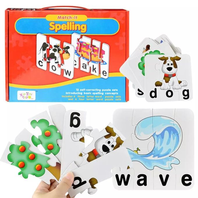 Match it! Spelling - 12 Puzzles