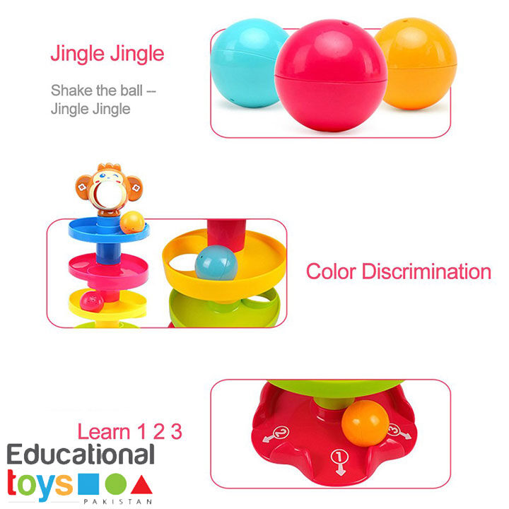 Huanger Ball Ramp Drop Toy